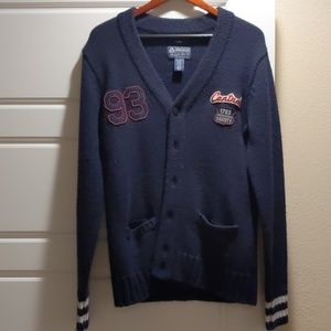 Other - Men's Navy/ Red Cardigan